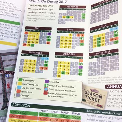 Leaflet for Buckinghamshire Railway Centre