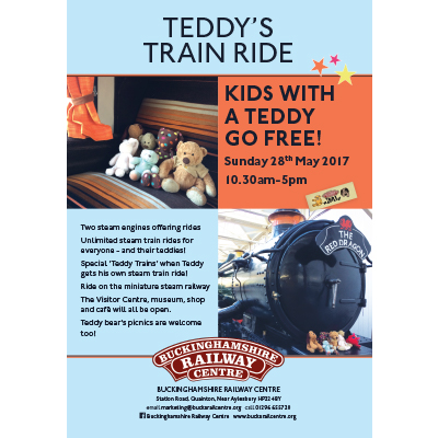 A1 printed poster to promote teddy's day out