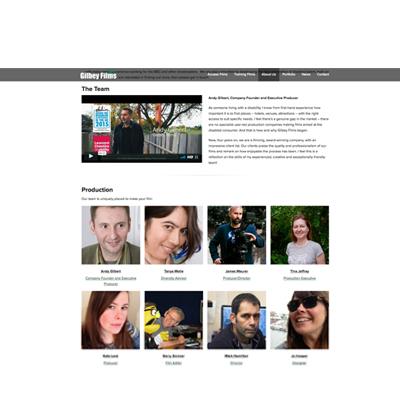 Gilbey Films website