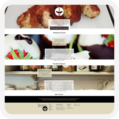 Waddesdon Deli website