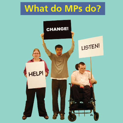 Easy-read Parliament graphics